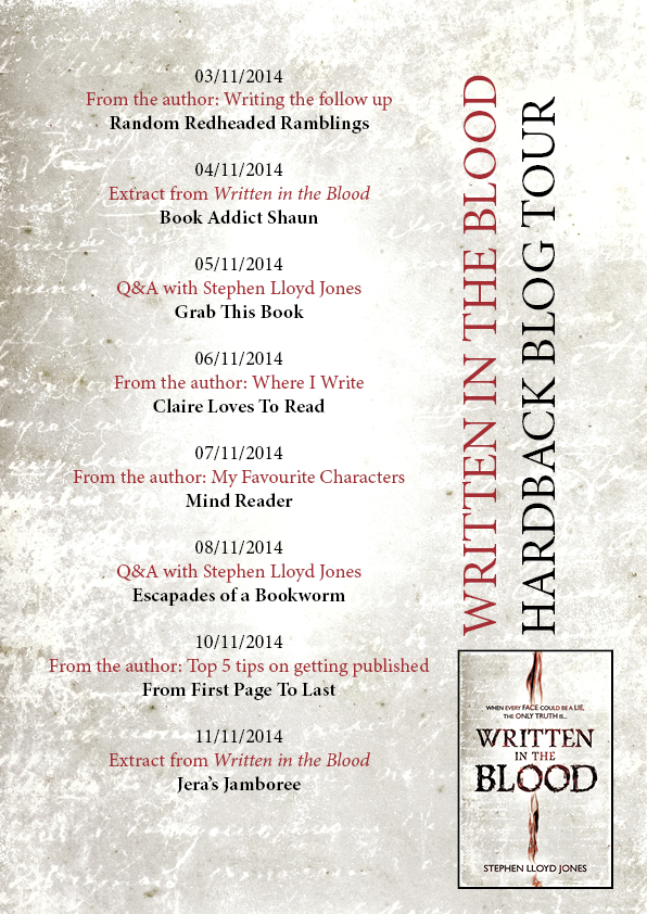 Written in the Blood blog tour