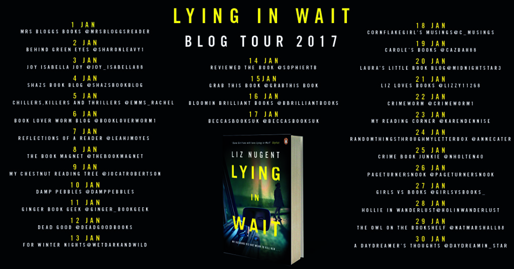 Lying in Wait blog tour poster