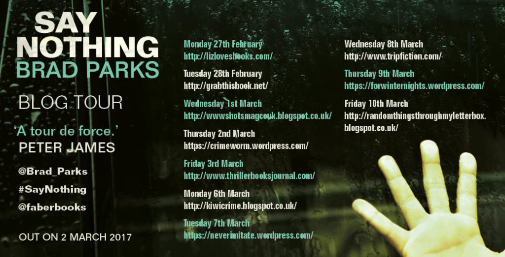 SAY NOTHING_blog tour graphic