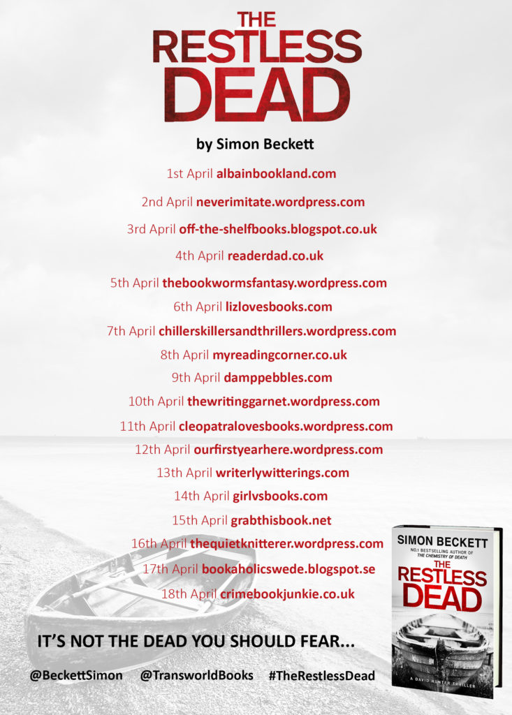 The Restless Dead blog tour banner